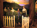 Tidewaters and Time, Umpqua Discovery Center, WOW arts & exhibits, designer/fabricator, 'Schools Out' (diorama detail) - Peggy O'Neal, muralist